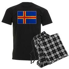 Flag of Aland Islands 4 Pajamas