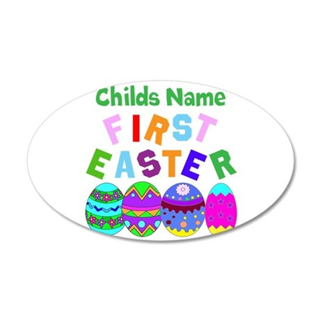First Easter 38.5 x 24.5 Oval Wall Peel