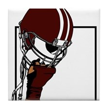 FOOTBALL [99 crimson] Tile Coaster