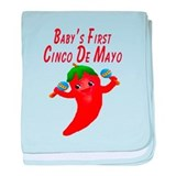 Baby's First Cinco De Mayo baby blanket