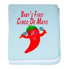 Baby's First Cinco De Mayo baby blanket