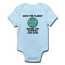 Save the Planet / Zombies Infant Bodysuit