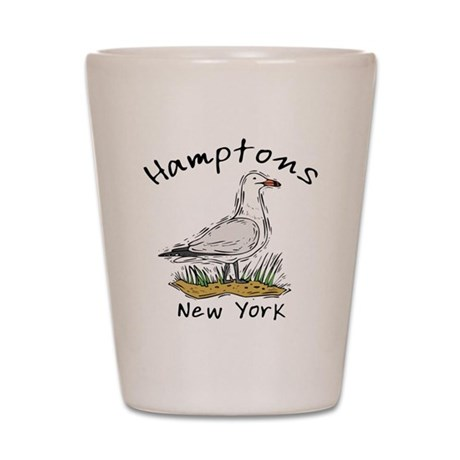 Hamptons NY Seagull Shot Glass