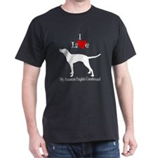 American English Coonhound Black T-Shirt