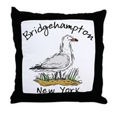 Bridgehampton, NY Throw Pillow