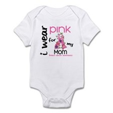 I Wear Pink 43 Breast Cancer Infant Bodysuit