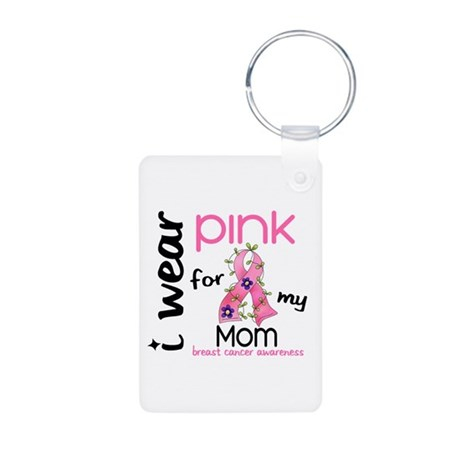 I Wear Pink 43 Breast Cancer Aluminum Photo Keycha