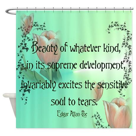 Edgar Allan Poe Quote Shower Curtain By Twilightyears