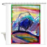 Buffalo! Colorful, animal art Shower Curtain