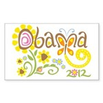 Obama Garden Sticker (Rectangle 10 pk)