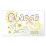 Obama Garden Sticker (Rectangle)