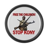 Free The Children 2012 KONY Large Wall Clock