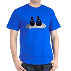 Castle Crime Solving Penguins Dark T-Shirt