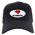 I LOVE MY COMPUTER Black Cap