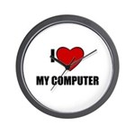 I LOVE MY COMPUTER Wall Clock