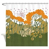 Arts and Crafts Trees Shower Curtain