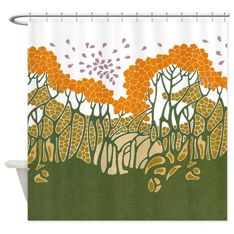 arts and crafts trees shower curtain by gurugoods
