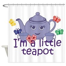 Tea Parties Are For Little Girls Shower Curtains Tea Parties Are For Little Girls Fabric
