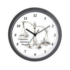 VAP Scales of Justice Wall Clock