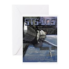 STS 105 Shuttle Mission Poster Greeting Cards (Pac