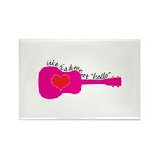 Uke at Hello Rectangle Magnet (100 pack)