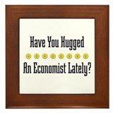 Hugged Economist Framed Tile
