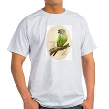 "Ash Grey T-Shirt ""Green Cheeked Conure"""