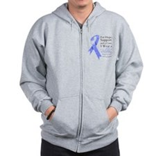 Stomach Cancer Ribbon Zip Hoodie