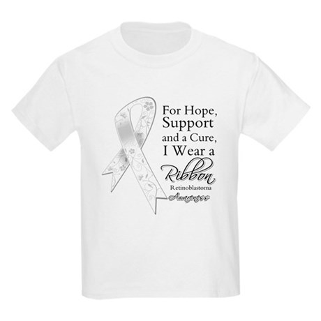 Retinoblastoma Ribbon Kids Light T-Shirt