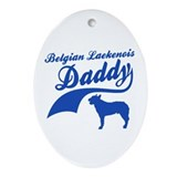 Belgian Laekenois Daddy Ornament (Oval)