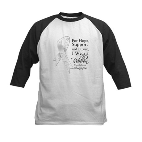 Mesothelioma Ribbon Kids Baseball Jersey