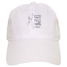 Lung Cancer Ribbon Baseball Cap