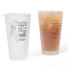 Lung Cancer Ribbon Drinking Glass
