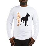 Grunge Great Dane Silhouette Long Sleeve T-Shirt