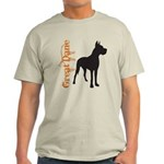 Grunge Great Dane Silhouette Light T-Shirt