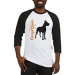 Grunge Great Dane Silhouette Baseball Jersey