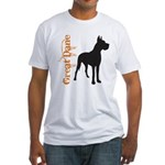 Grunge Great Dane Silhouette Fitted T-Shirt