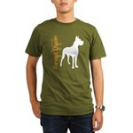 Grunge Great Dane Silhouette Organic Men's T-Shirt