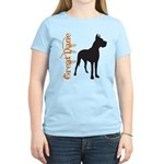 Grunge Great Dane Silhouette Women's Light T-Shirt