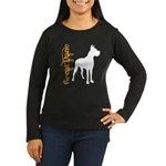 Grunge Great Dane Silhouette Women's Long Sleeve D