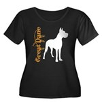 Grunge Great Dane Silhouette Women's Plus Size Sco
