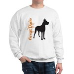 Grunge Great Dane Silhouette Sweatshirt