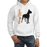 Grunge Great Dane Silhouette Hooded Sweatshirt