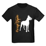 Grunge Great Dane Silhouette Kids Dark T-Shirt