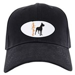 Grunge Great Dane Silhouette Black Cap