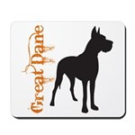 Grunge Great Dane Silhouette Mousepad