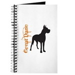 Grunge Great Dane Silhouette Journal