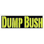 Dump Bush Yellow and Black Bumpersticker