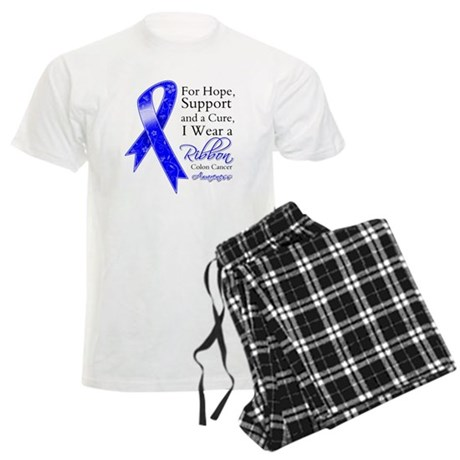 Colon Cancer Ribbon Men's Light Pajamas
