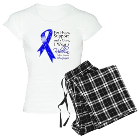 Colon Cancer Ribbon Women's Light Pajamas